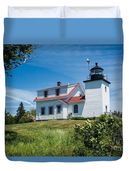 Fort Point Lighthouse  Stockton Springs Me 2  Duvet Cover