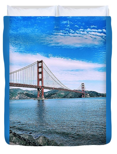 Fort Point Duvet Cover