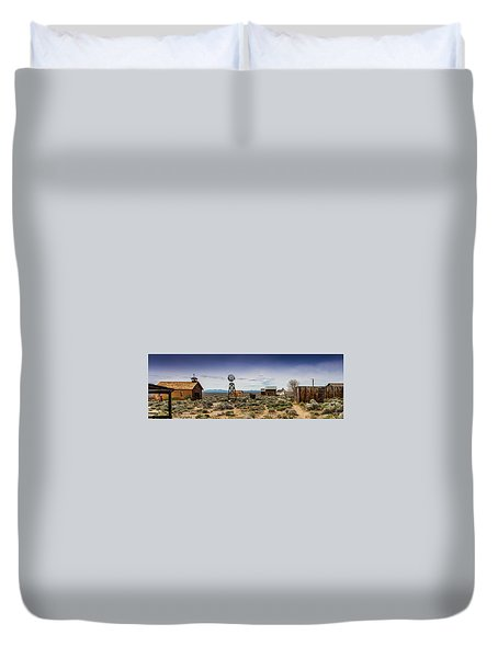 Duvet Cover featuring the photograph Fort Rock Museum by Jim Adams