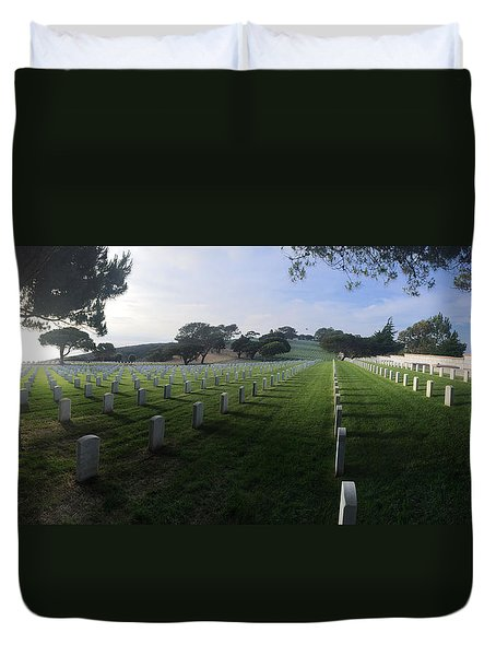 Fort Rosecrans National Cemetery Duvet Cover by Lynn Geoffroy
