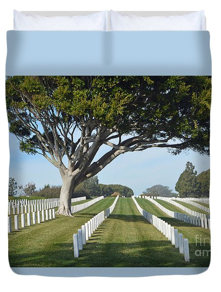 Fort Rosecrans National Cemetery Duvet Cover