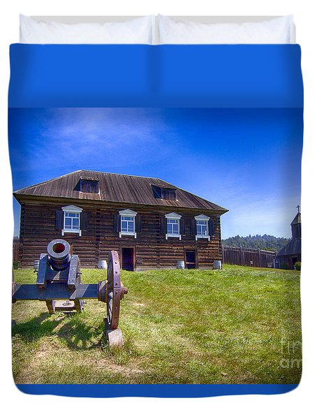 Fort Ross State Historic Park Duvet Cover by Jason Abando
