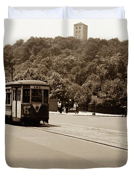 Fort Tryon Trolley Duvet Cover