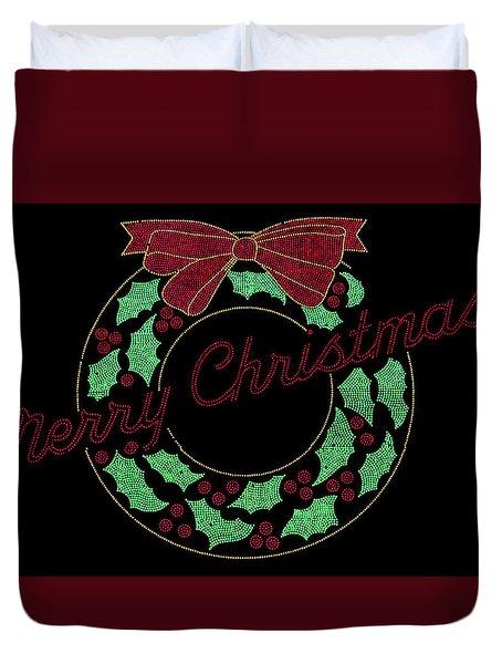 Fort Wayne Christmas Wreath Duvet Cover