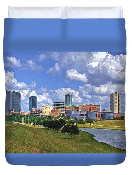 Fort Worth #1 Duvet Cover by David and Carol Kelly