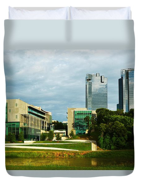 Duvet Cover featuring the photograph Fort Worth Buildings by Ricardo J Ruiz de Porras