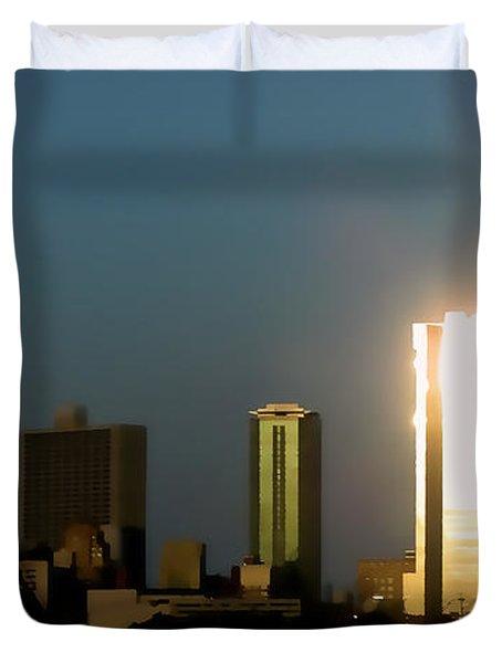 Fort Worth Gold Duvet Cover by Douglas Barnard