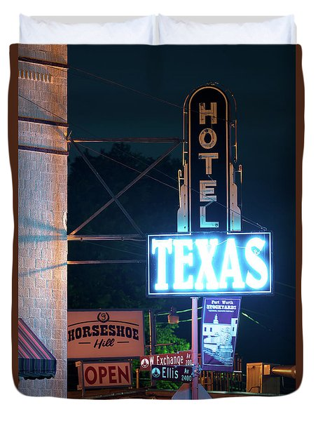 Fort Worth Hotel Texas 6616 Duvet Cover
