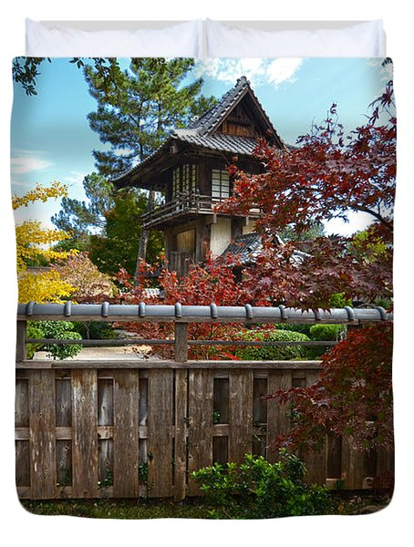 Fort Worth Japanese Gardens 2771a Duvet Cover