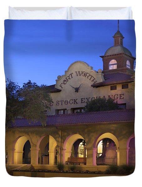 Fort Worth Livestock Exchange Duvet Cover