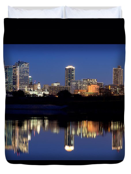 Fort Worth Reflection 41916 Duvet Cover