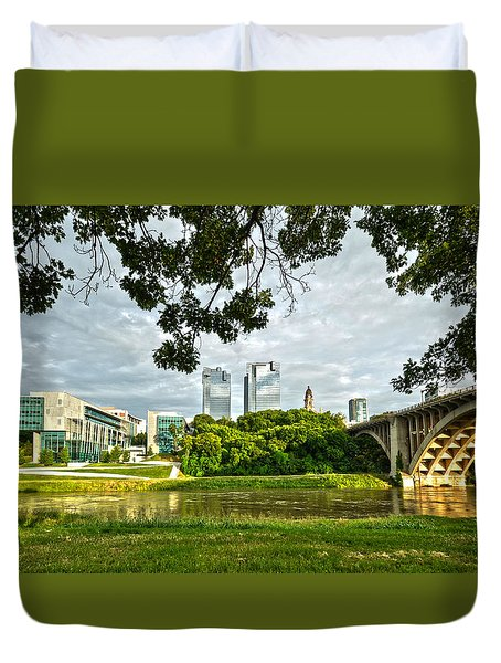 Duvet Cover featuring the photograph Fort Worth Skyline 1 by Ricardo J Ruiz de Porras