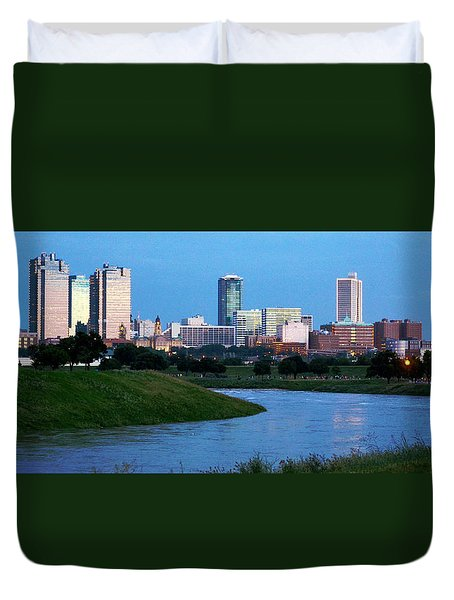 Fort Worth Skyline 2 Duvet Cover by Ricardo J Ruiz de Porras