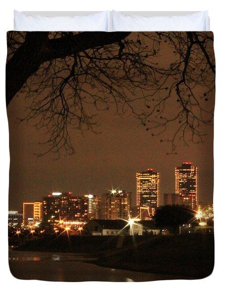 Fort Worth Skyline Duvet Cover