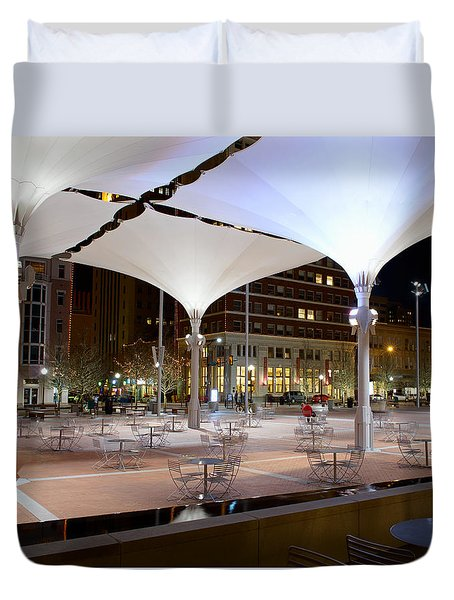 Fort Worth Sundance Square Duvet Cover
