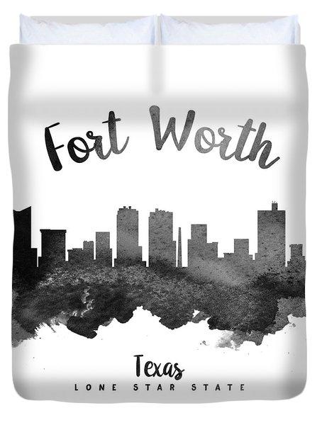 Fort Worth Texas Skyline 18 Duvet Cover