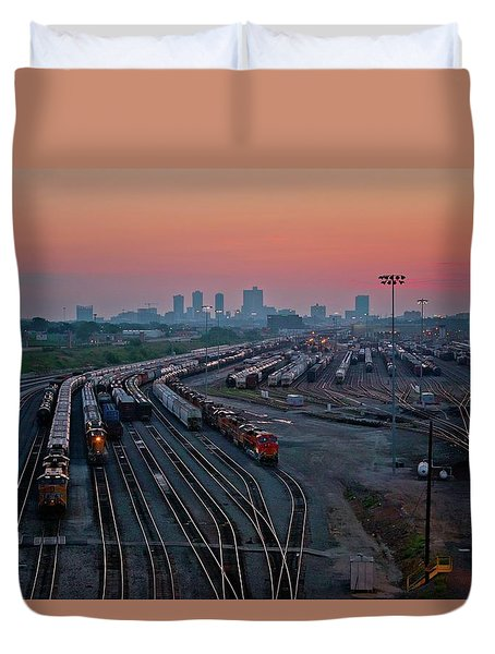 Fort Worth Trainyards Duvet Cover