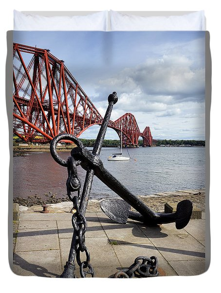 Duvet Cover featuring the photograph Forth Bridge by Jeremy Lavender Photography