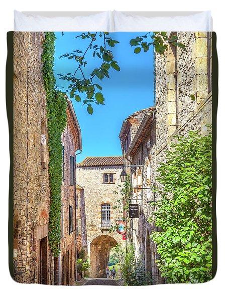 Fortified Gate In Cordes-sur-ciel Duvet Cover