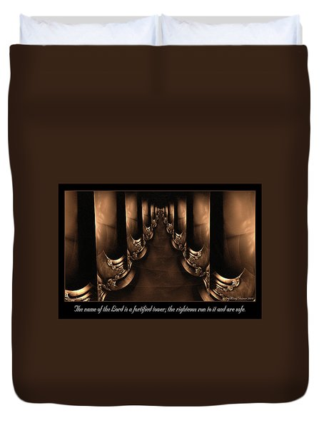Fortified Tower Duvet Cover
