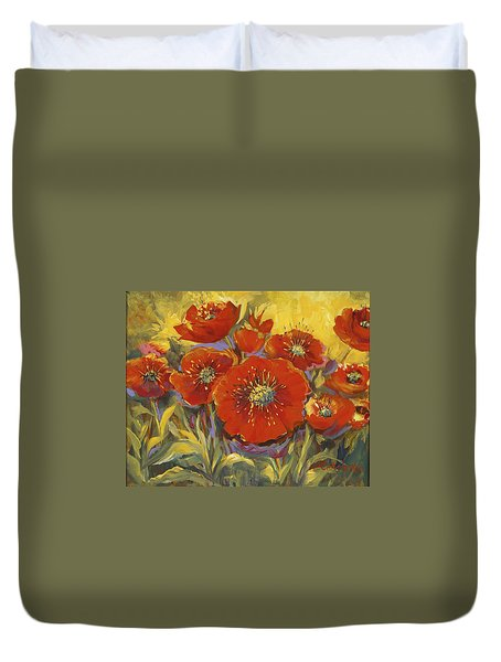 Fortuitous Poppies Duvet Cover