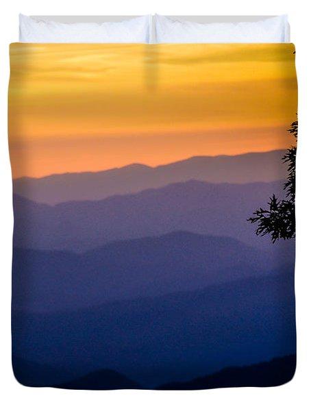 Fortuitous Sunset Duvet Cover