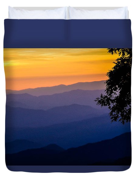 Fortuitous Sunset Duvet Cover
