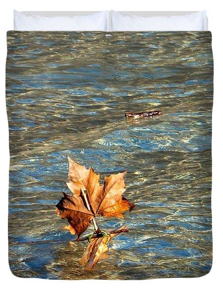 Duvet Cover featuring the photograph Fortune Sur L'eau by Marc Philippe Joly
