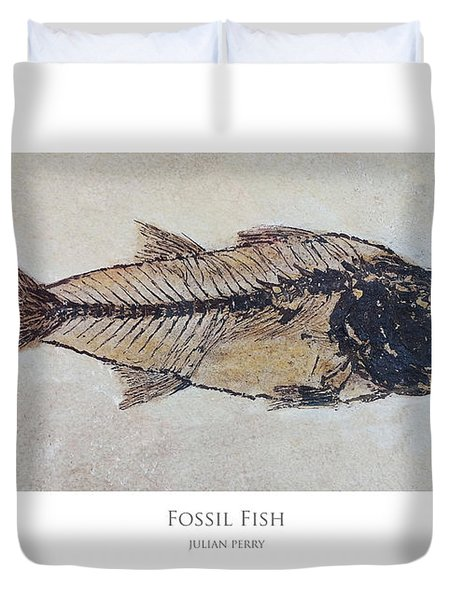 Fossil Fish Duvet Cover