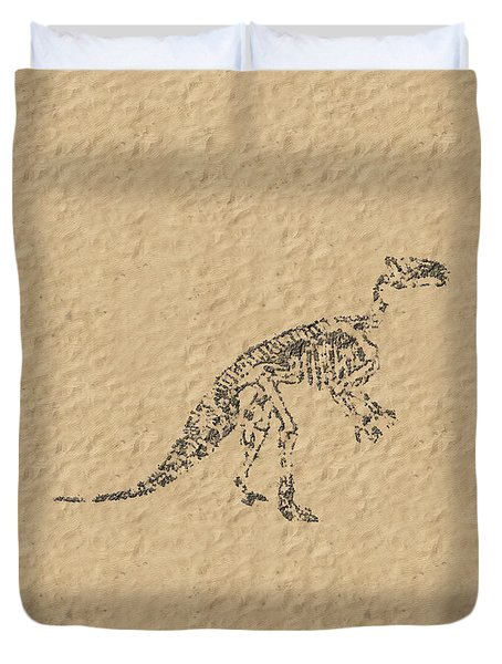 Fossils Of A Dinosaur Duvet Cover