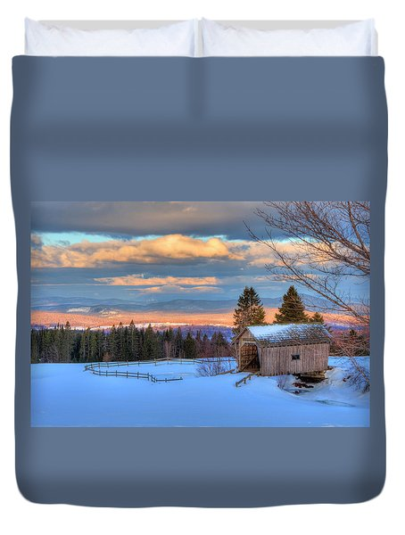 Duvet Cover featuring the photograph Foster Covered Bridge - Cabot, Vermont by Joann Vitali