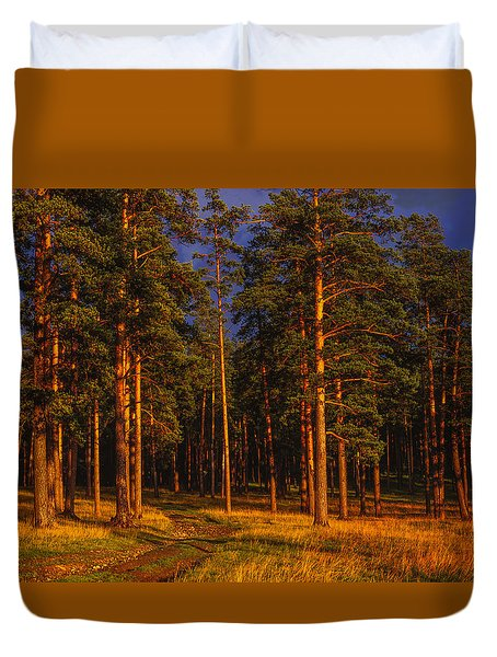 Forest After Rain Storm Duvet Cover