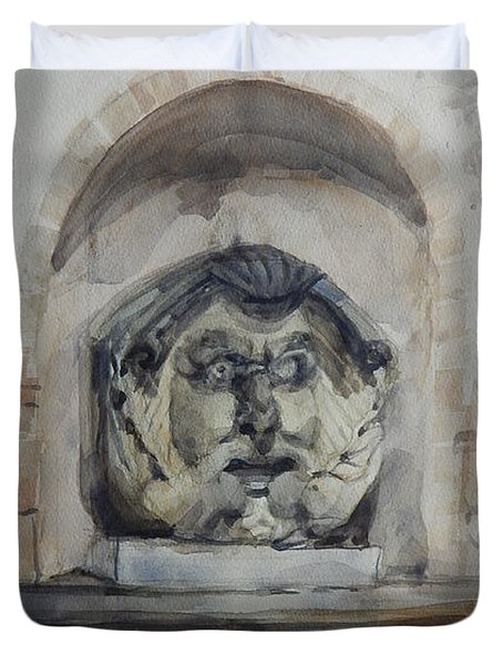 Fountain In Rome Duvet Cover
