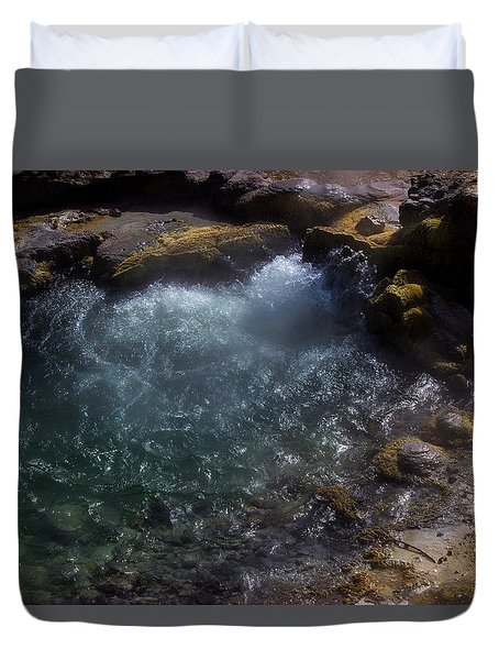 Water On Mars Duvet Cover
