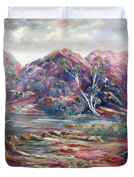 Fountain Springs Outback Australia Duvet Cover