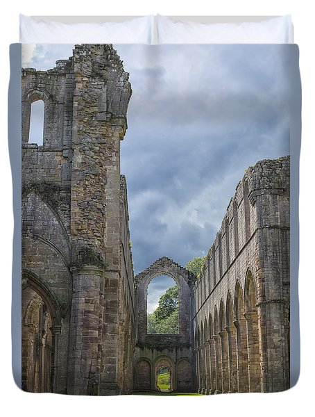 Fountains Abbey Duvet Cover by Patricia Hofmeester