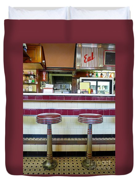 Four Aces Diner Duvet Cover by Edward Fielding
