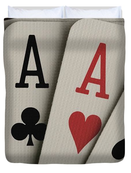 Four Aces Studio Duvet Cover by Darren Greenwood