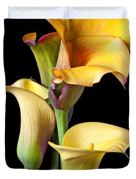 Four Calla Lilies Duvet Cover
