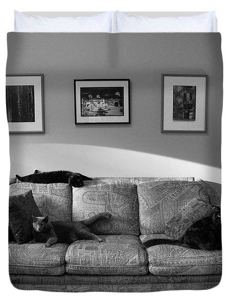Four Cats Duvet Cover