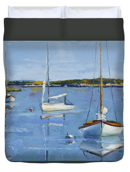 Four Daysailers Duvet Cover