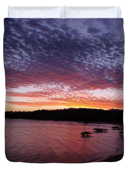 Four Elements Sunset Sequence 1 Coconuts Qld  Duvet Cover