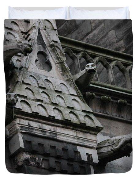 Four Gargoyles On Notre Dame North Duvet Cover