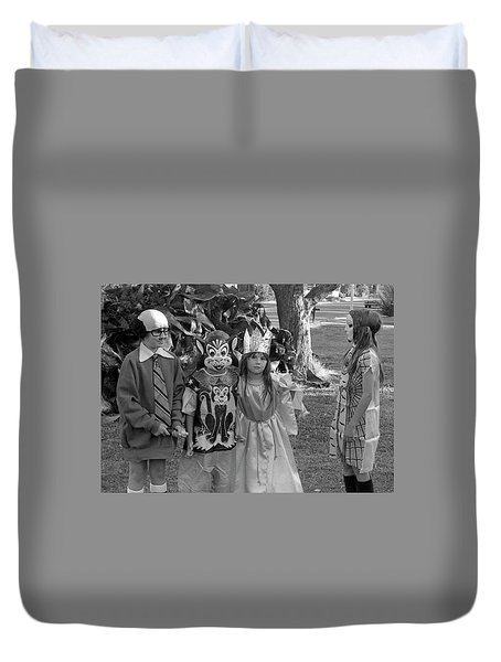 Four Girls In Halloween Costumes, 1971, Part Two Duvet Cover