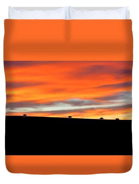 Four Kings Of The American Plains Duvet Cover
