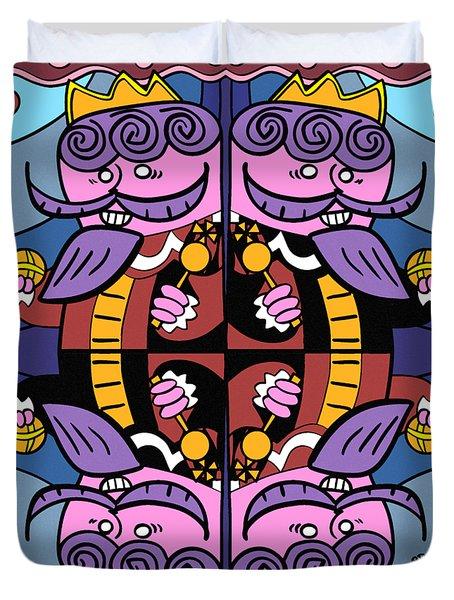 Four Kings Duvet Cover