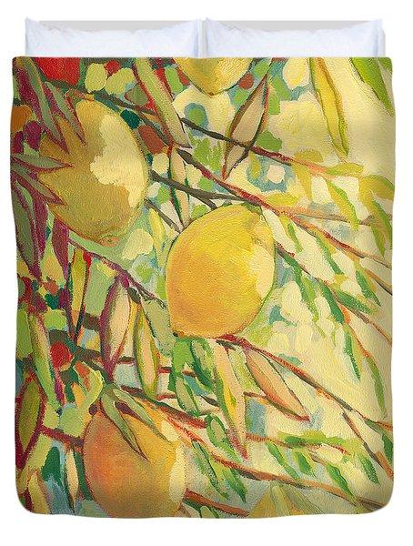 Four Lemons Duvet Cover