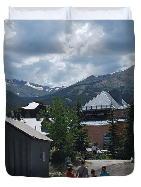 Four Little Children Safe In A Big Beautiful World Telluride Colorado Duvet Cover