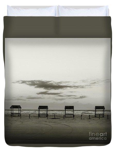 Four On The Beach Duvet Cover