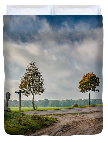 Four On The Crossroads Duvet Cover by Dmytro Korol